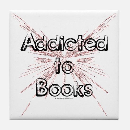 Addicted to Books! 2 Tile Coaster