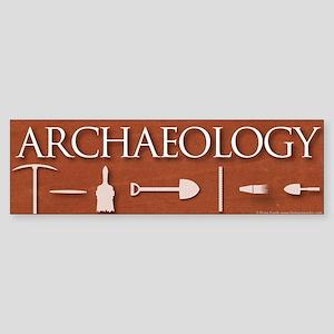 Archaeology Red Sticker (Bumper)