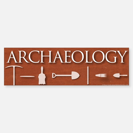 Archaeology Red Sticker (Bumper)