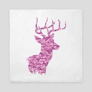 Pink Camo Deer Queen Duvet