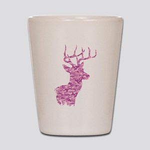 Pink Camo Deer Shot Glass