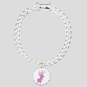 Pink Camo Deer Bracelet