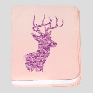 Pink Camo Deer baby blanket