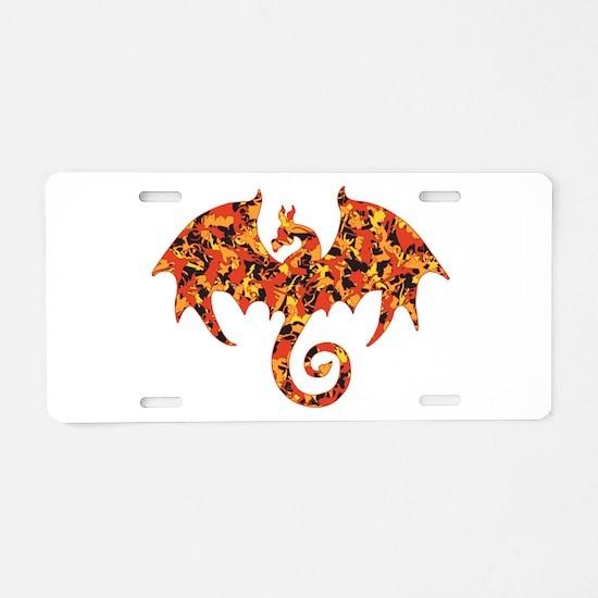 Camo Dragon Aluminum License Plate