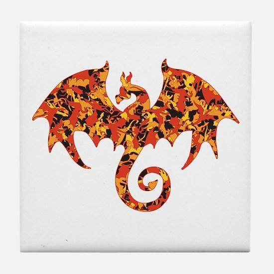Camo Dragon Tile Coaster