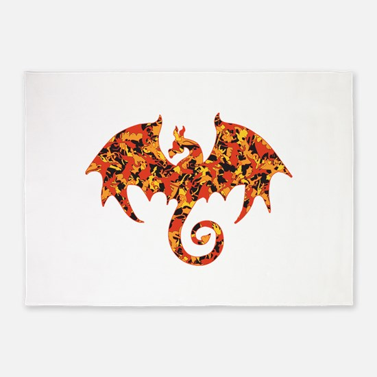 Camo Dragon 5'x7'Area Rug