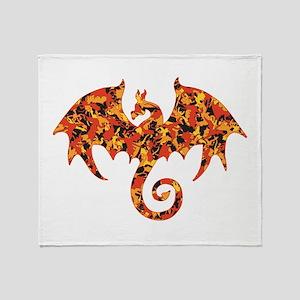 Camo Dragon Throw Blanket