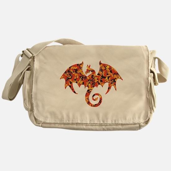 Camo Dragon Messenger Bag