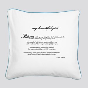 My Beautiful Girl/daughter Square Canvas Pillow