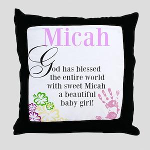 Baby Micah Throw Pillow