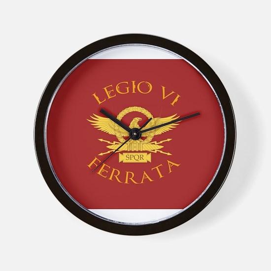 Legio VI-RED Wall Clock