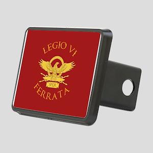 Legio VI-RED Rectangular Hitch Cover