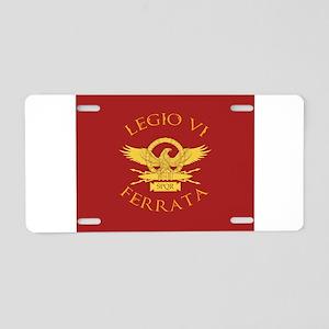 Legio VI-RED Aluminum License Plate
