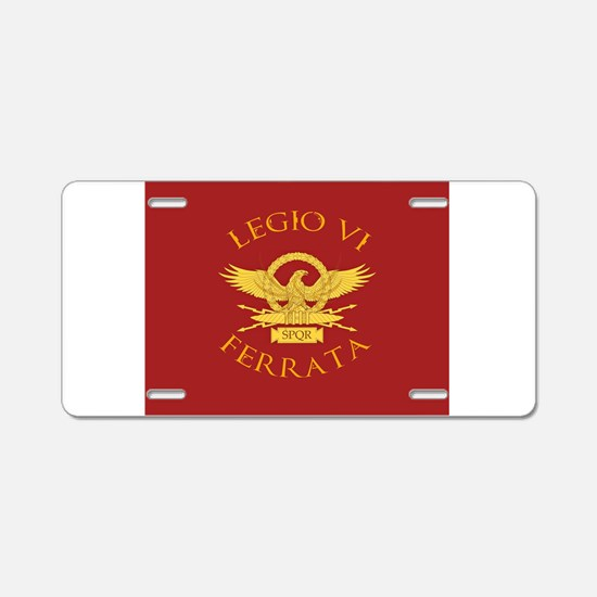 Legio VI-RED Aluminum License Plate