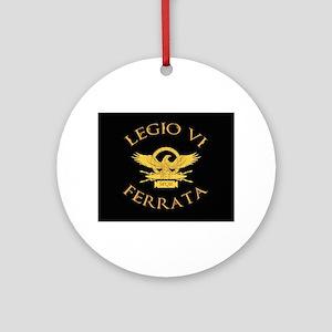 Legio VI Black Round Ornament