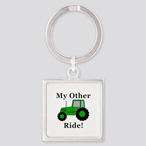 Tractor Other Ride Square Keychain