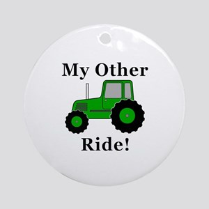Tractor Other Ride Round Ornament