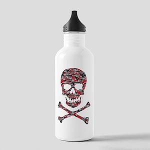 Camo Skull and Crossbones Water Bottle