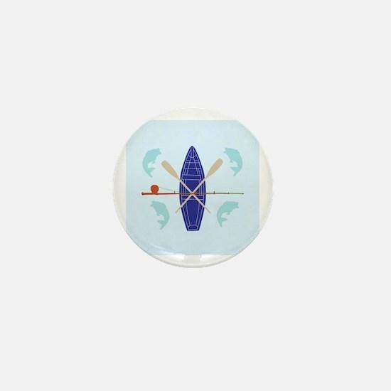 Gone Fishing Mini Button