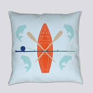 Gone Fishing Everyday Pillow