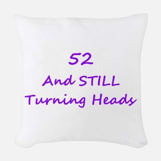 52 Still Turning Heads 1C Purple Woven Throw Pillo