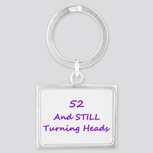 52 Still Turning Heads 1C Purple Keychains