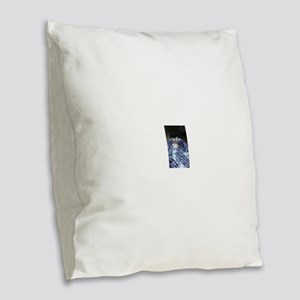 Its in blue Burlap Throw Pillow