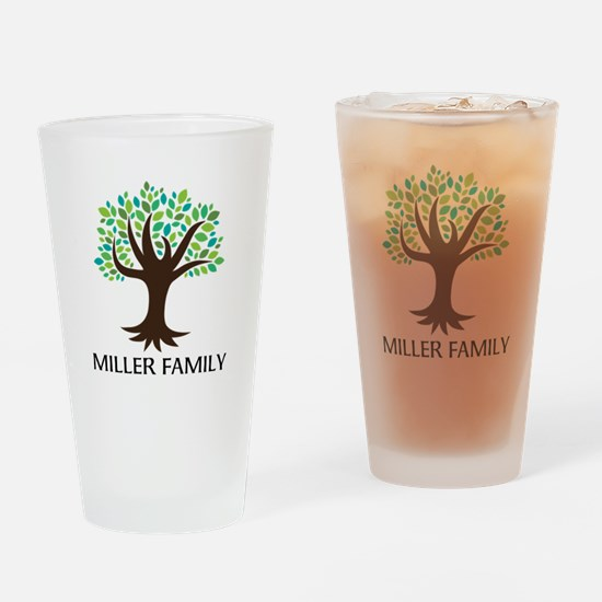 Personalized Genealogy Family Tree Drinking Glass