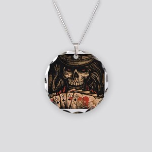 Dead man's hand Necklace Circle Charm