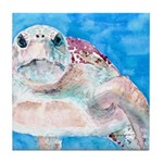Sea Turtle #17 Tile Coaster