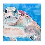 Sea Turtle #17 Tile Coaster
