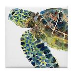 Sea Turtle #14 Tile Coaster