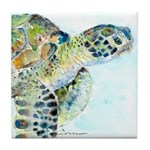 Sea Turtle 11 Tile Coaster