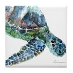 Sea Turtle #15 Tile Coaster
