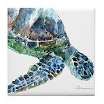 Sea Turtle #15 Tile Coaster