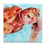 Sea Turtle #13 Tile Coaster