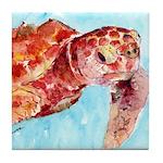 Sea Turtle #13 Tile Coaster