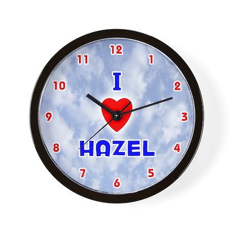 I Love Hazel (Red/Bl) Valentine Wall Clock