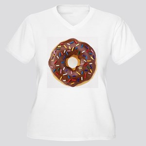 Frosted donut with sprinkles Plus Size T-Shirt