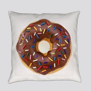 Frosted donut with sprinkles Everyday Pillow
