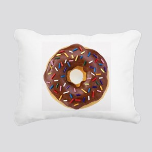 Frosted donut with sprinkles Rectangular Canvas Pi