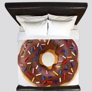 Frosted donut with sprinkles King Duvet