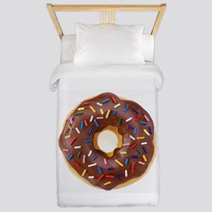 Frosted donut with sprinkles Twin Duvet
