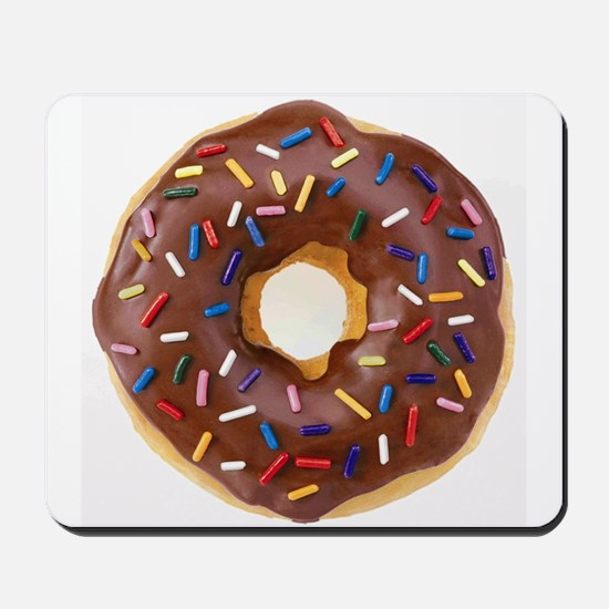 Frosted donut with sprinkles Mousepad
