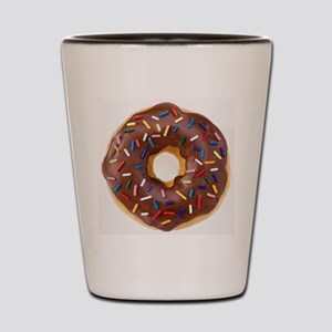 Frosted donut with sprinkles Shot Glass