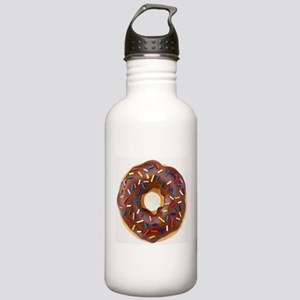 Frosted donut with sprinkles Water Bottle