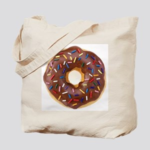 Frosted donut with sprinkles Tote Bag