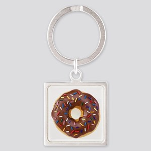 Frosted donut with sprinkles Keychains