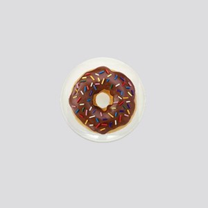 Frosted donut with sprinkles Mini Button