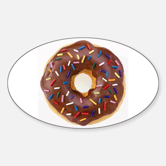 Frosted donut with sprinkles Decal